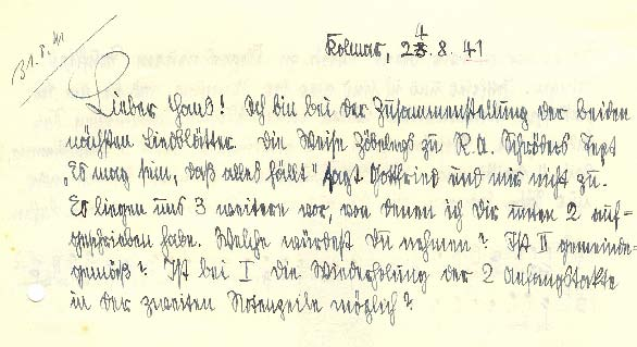 Samuel Rothenberg Brief 1941